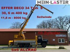 kraanwagen Magirus Deutz 256 D 26 AK 6x6 EFFER DECO 34 31 Meter 400 kg 1979