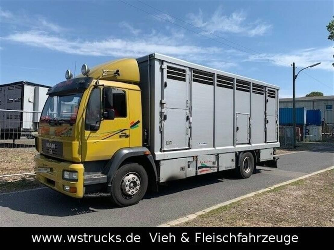 paardenvrachtwagen MAN 15.220 Menke Einstock 2006
