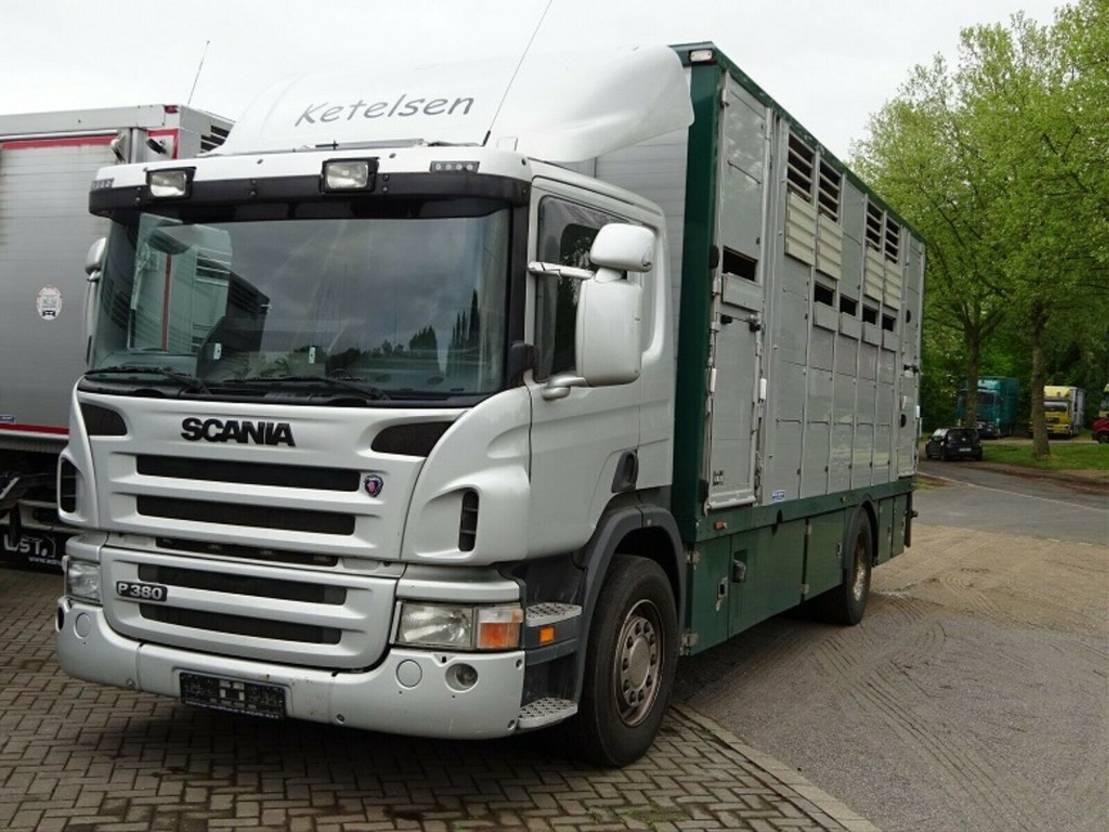 paardenvrachtwagen Scania P380 mitt Menke Doppelstock 2007