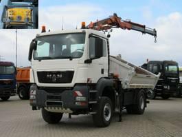 kipper vrachtwagen > 7.5 t MAN TGS 18.440 4x4 BL 2-Achs Allradkipper Kran Funk 2008