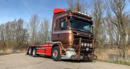 containersysteem vrachtwagen Scania R730-V8 Scania R730 Highline Leebur Haaksysteem EU6 TOP 2015
