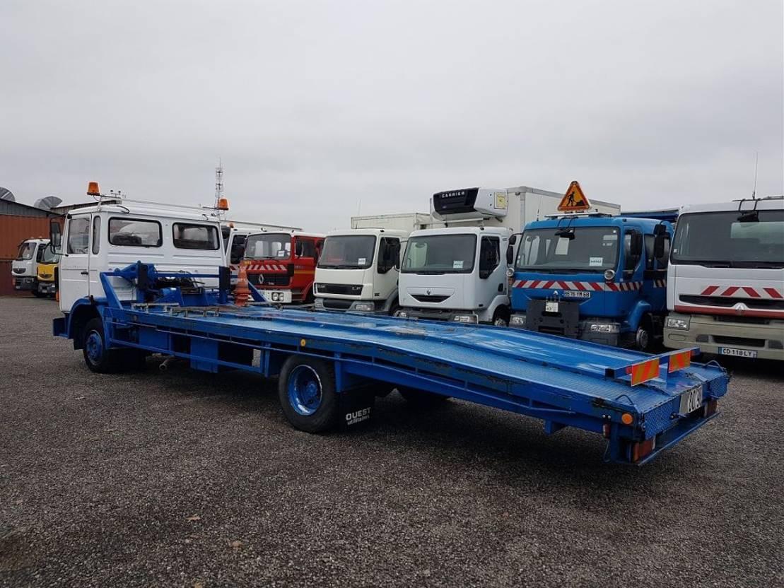 autotransporter vrachtwagen Renault S130.09 A PORTE-VOITURE + TREUIL 1985