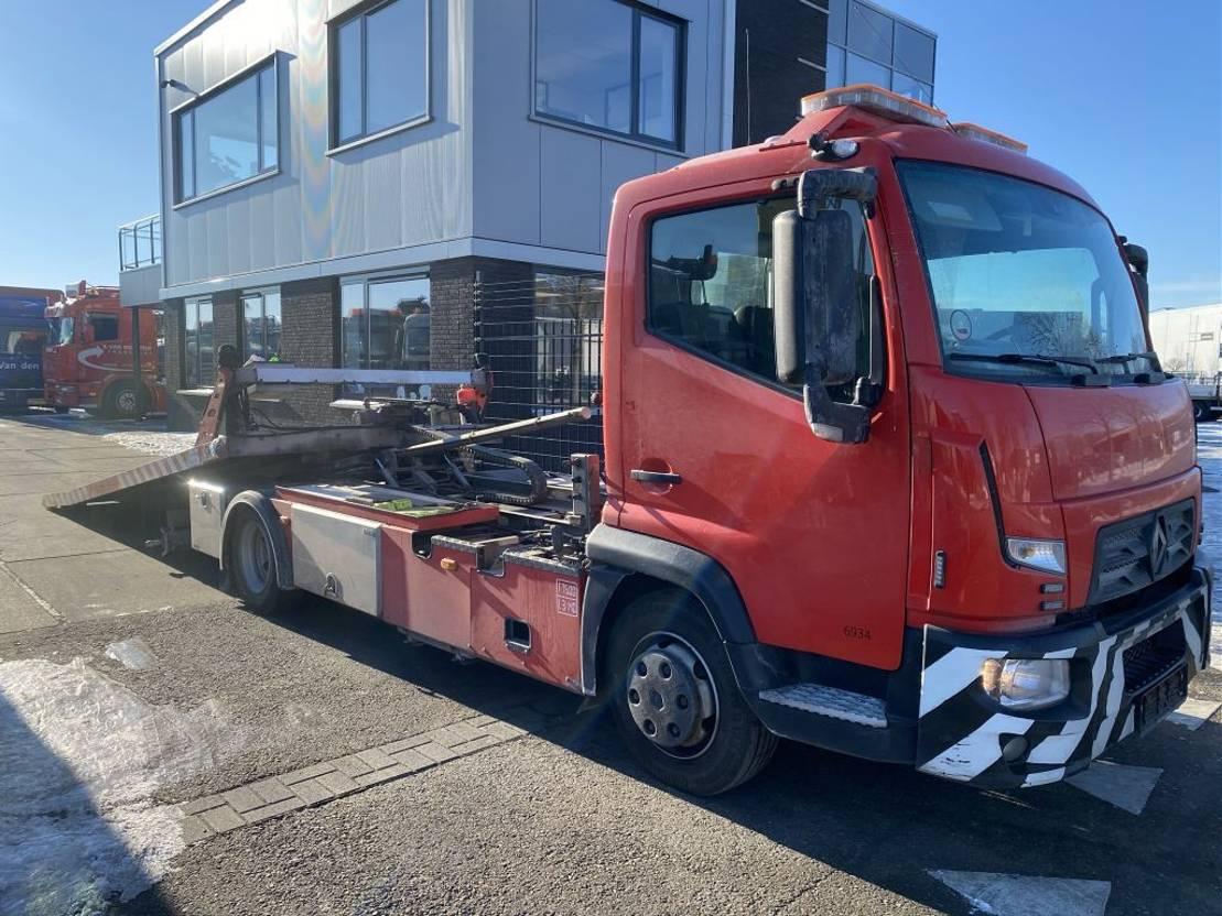 autotransporter vrachtwagen Renault D180 EURO 6 + OMARS S.ASL.FLK-001 MET REMOTE 2016