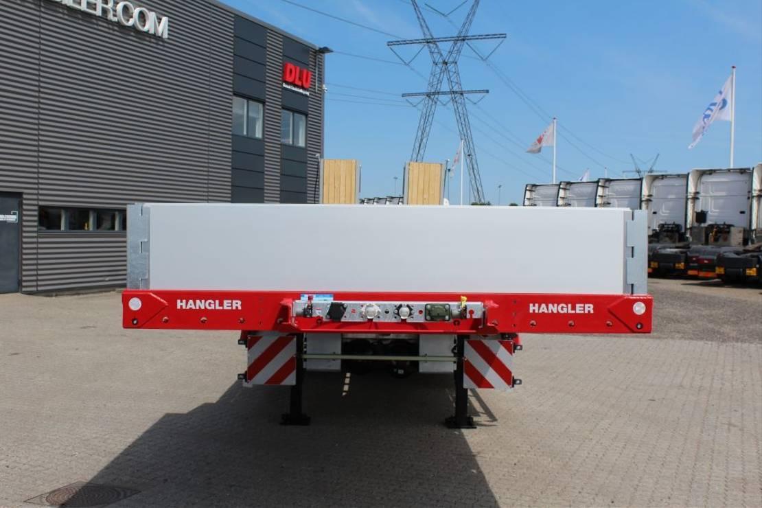 semi dieplader oplegger Hangler 4-axle machinery trailer 3.600mm ramps