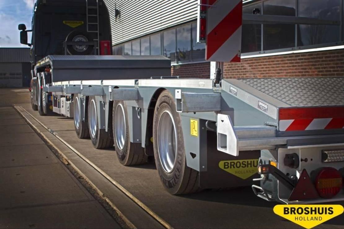 semi dieplader oplegger Broshuis 4-Axle SL2 Semi low loader double extendible