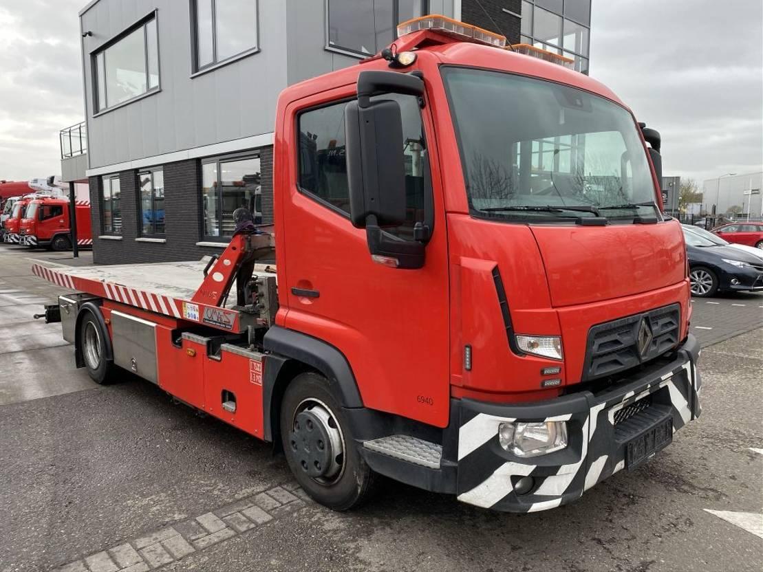 autotransporter vrachtwagen Renault D180 EURO 6 + OMARS S.ASL.FLK-002 MET REMOTE 2016