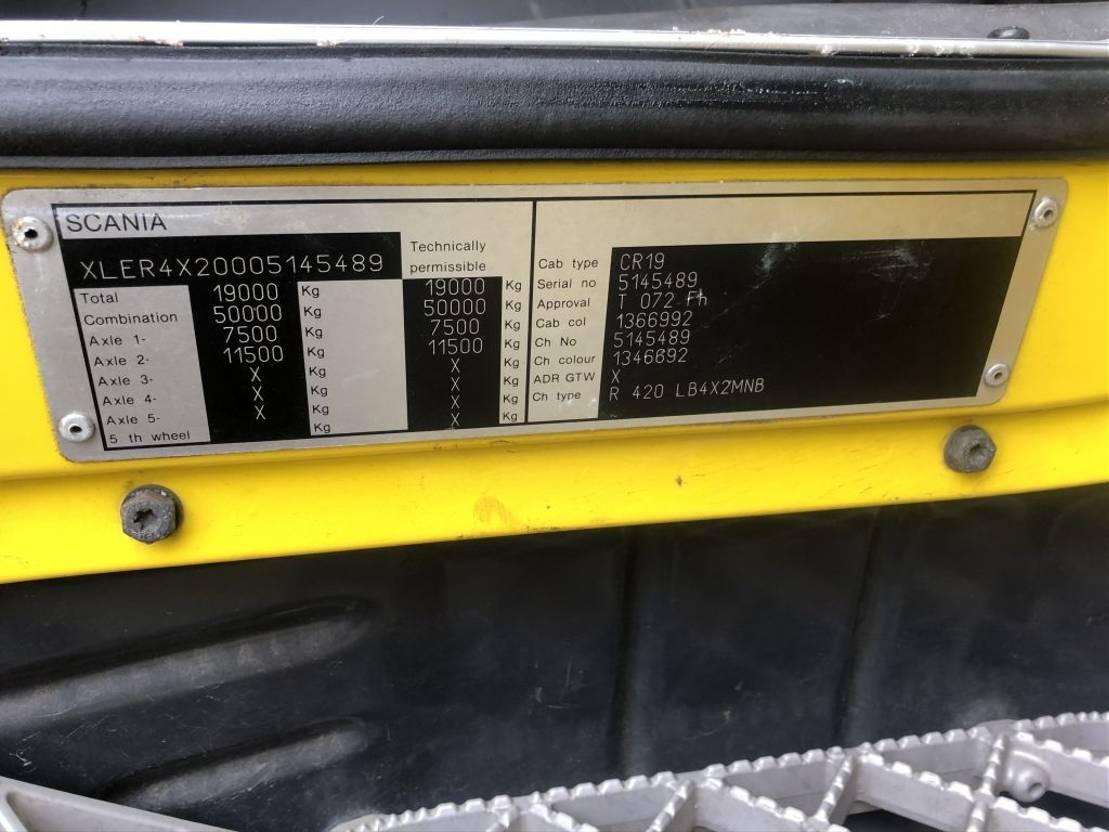 autotransporter vrachtwagen Scania R420 Analog tacho +  GS-meppel Car transporter 2005