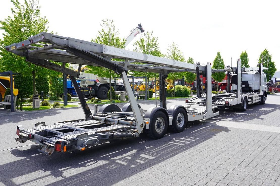 autotransporter vrachtwagen DAF CF 75 , E5 , 4x2 ,MEGA , LOHR , retarder , sleep cab 2008