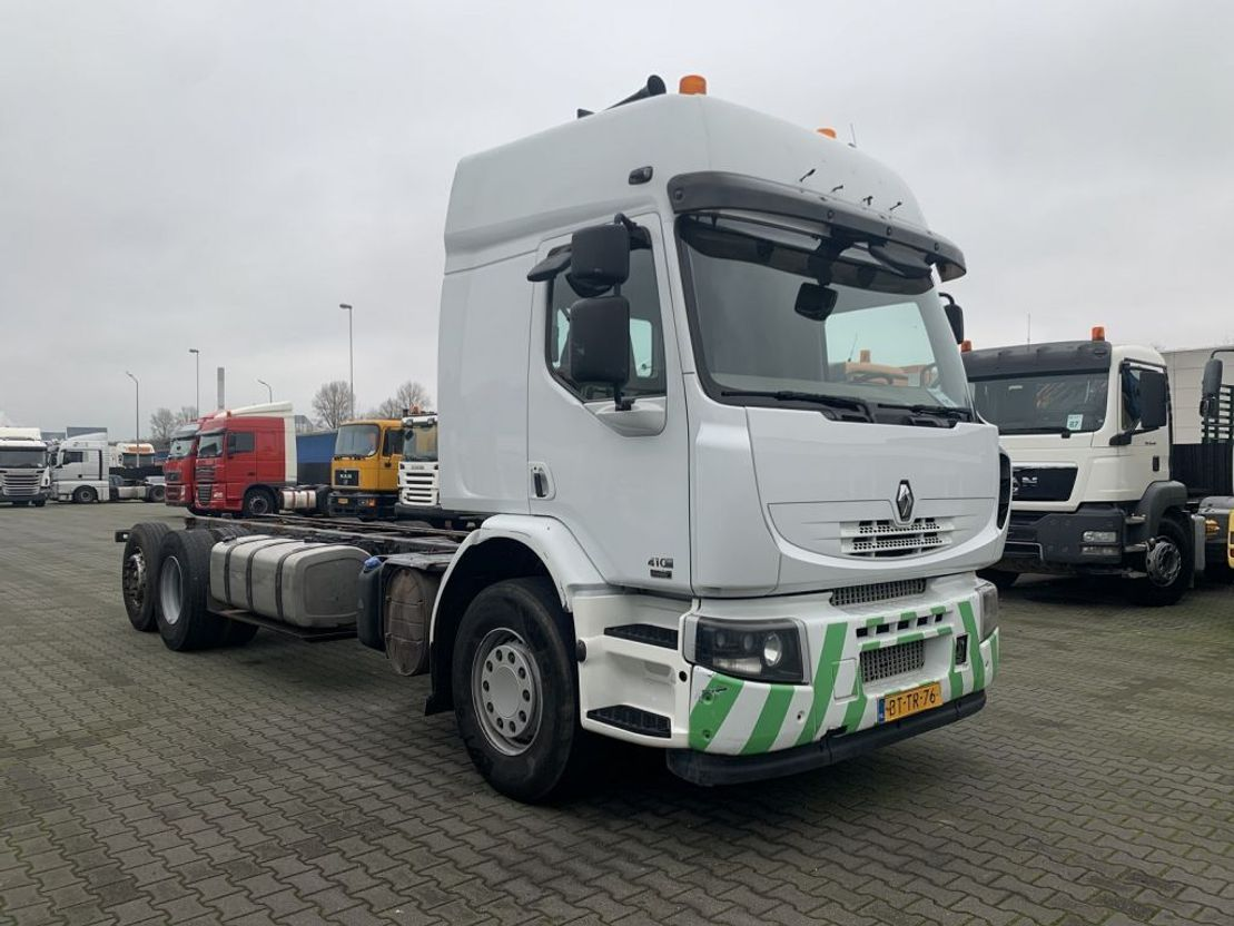 chassis cabine vrachtwagen Renault Lander 410 DXI 6X2 Manual Gearbox Hubreduction 2008