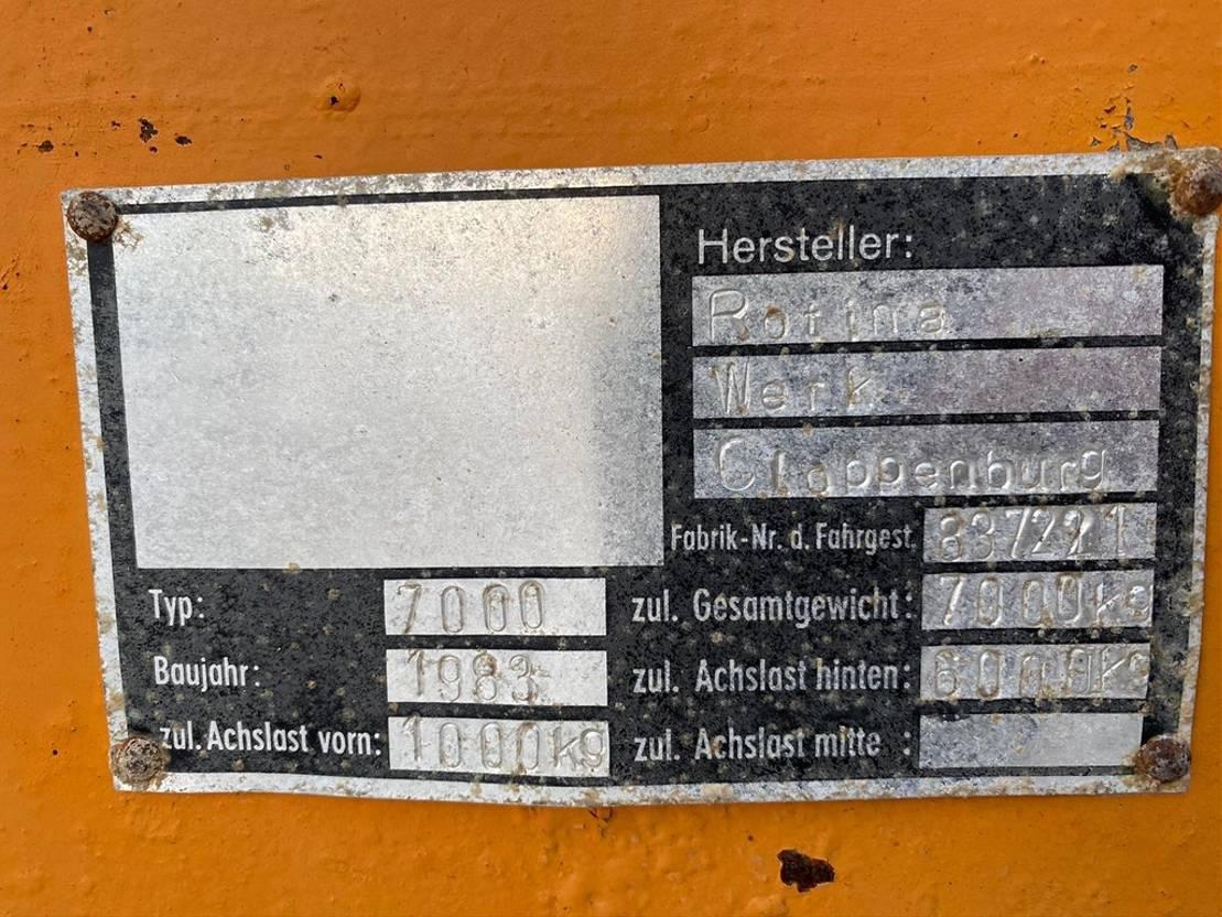 kunstmeststrooier Diversen Rotina 7000 kalkstrooier 1999