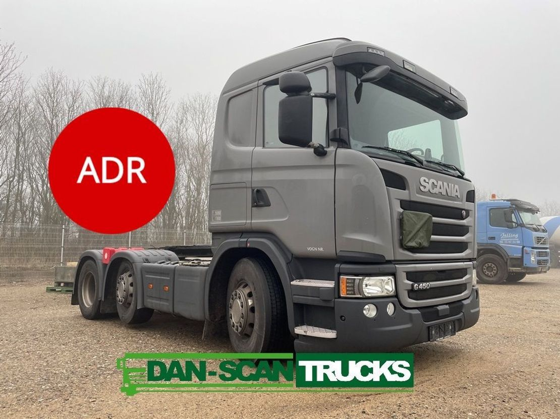gevaarlijke stoffen trekker Scania G450 Twensteer ADR Tractor unit Air / Air suspension 2015