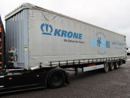 huifzeil aanhanger Krone SDP 27 Mega Liftachse Hubdach verbreiterbar 2016