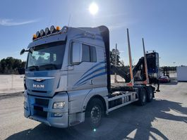 houttransporter vrachtwagen MAN TGX 26 6x4, Euro 6, Timber-truck, 2015 2015