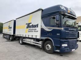 open laadbak vrachtwagen DAF XF 105 SSC EVV, ACC, Intarder, 90 m³, Anhänger 2012