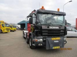 containersysteem vrachtwagen Scania 124 360 EURO 2 8X2 FULLSTEELSUSPENSION 1997