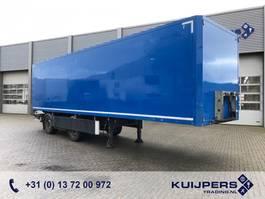 gesloten opbouw oplegger Tracon Trailers TB1218 / LZV B-Double / Box 10 mtr / Laadklep / APK 06-2021! 2012