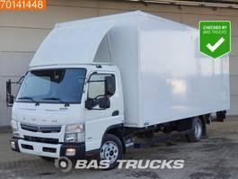 bakwagen vrachtwagen Mitsubishi Canter Fuso 7C18 4X2 Manual Ladebordwand Steelsuspension Euro 6 2016