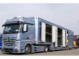 autotransporter vrachtwagen Mercedes-Benz Actros 1845 Autotransporter Komplettzug 2015