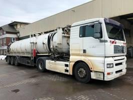 kolkenzuiger vrachtwagen MAN 18.400 TGA Kutschke 26m³ Saug-Sattel-Aulieger 2002