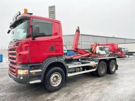 containersysteem vrachtwagen Scania R500 Rautajousinen koukkuauto 2009