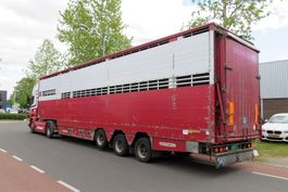 vee oplegger Pezzaioli SBA32 2-2 moving floor , moving dak Cows/ Belgian trailer 2005