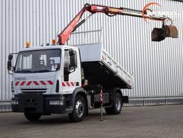 kraanwagen Iveco EuroCargo 120 120E18 6,5 TM Kraan, Crane, Kran - Kipper, Tipper 2006