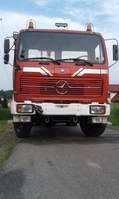 oldtimer vrachtwagen Mercedes-Benz 1217 4x4 Hook Lift tipper 1978