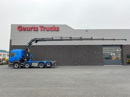 standaard trekker Scania R560-V8 8X2 TREKKER/BAKWAGEN + HIAB 477E-8 HIPRO KRAAN/KRAN/CRANE/GRUA 2013