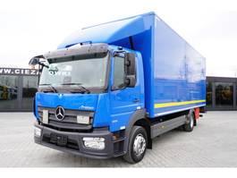 bakwagen vrachtwagen Mercedes-Benz Atego 1221 , E6 , 18 EPAL box , tail lift , retarder , 2016