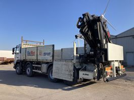 open laadbak vrachtwagen Volvo FM13 8X4 Full Steel-HIAB 477 E-6 + JIB 100 X-4 Funk-Rotator 2008