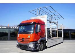 platform vrachtwagen Mercedes-Benz Actros 2536 , E6 , MEGA , 6x2 , box + lifting roof , 2x side ope 2017