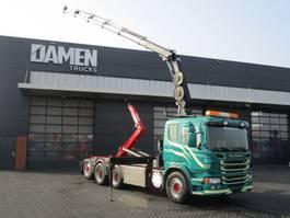 containersysteem vrachtwagen Scania P 440 LB 8x4 ( Tridem ) Haak/Kraan 2013