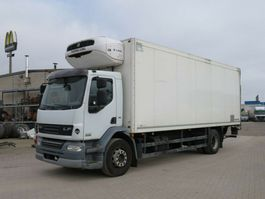 koelwagen vrachtwagen DAF AE AE 55 LF Kühlkoffer LBW Tiefkühler+LBW+Türen 2012