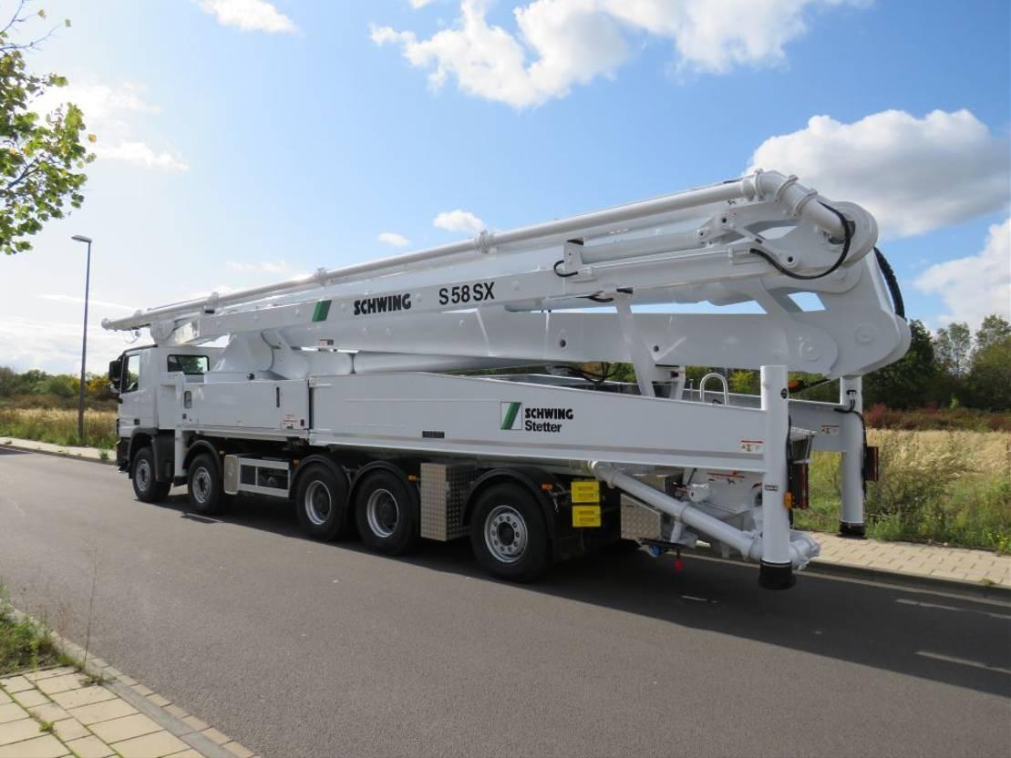 betonpomp vrachtwagen Mercedes-Benz 5050-K 10x4 -Euro 3 - S58SX Schwing Concrete Pump - NEW