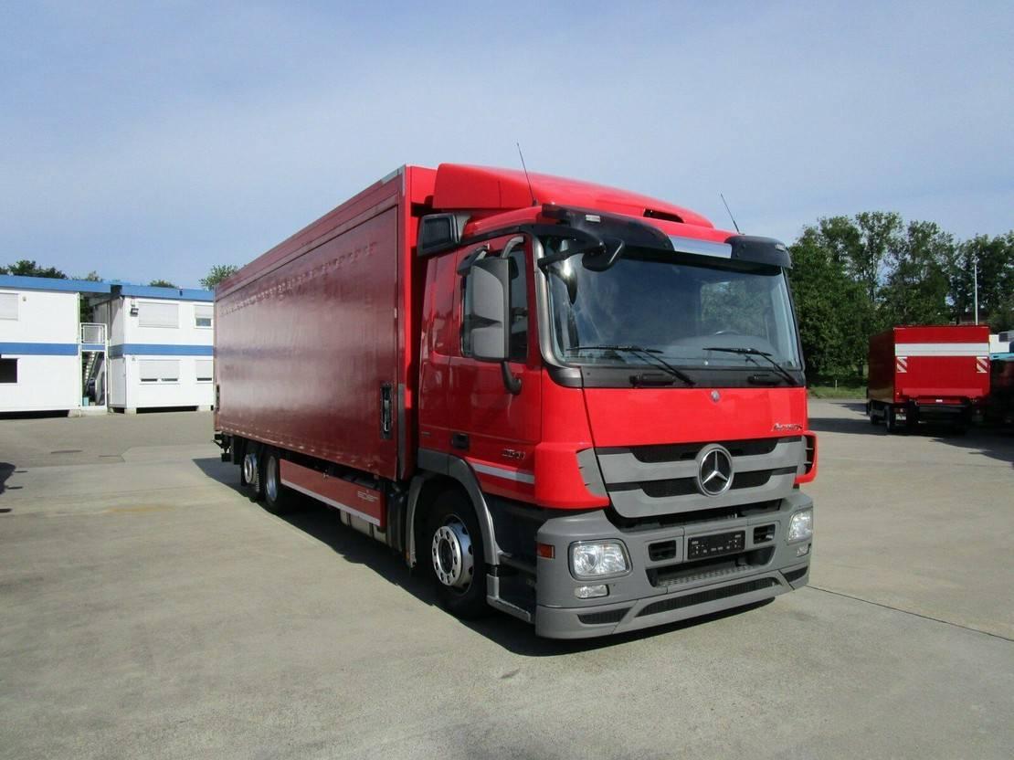 platform vrachtwagen Mercedes-Benz Actros 2541 L Getränkepritsche 8,2m LBW 2 T*LENK 2012