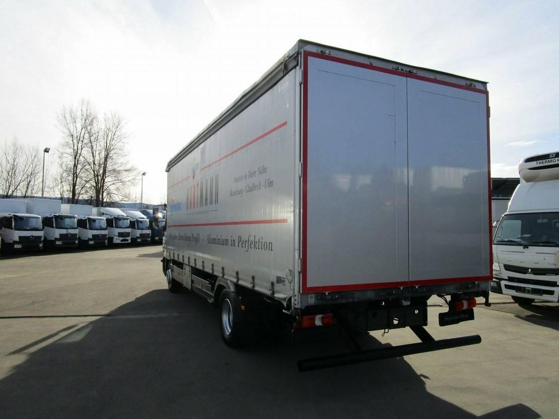 platform vrachtwagen Mercedes-Benz Atego IV 1230 L Pritsche/Plane 7,30 m AHK 2013