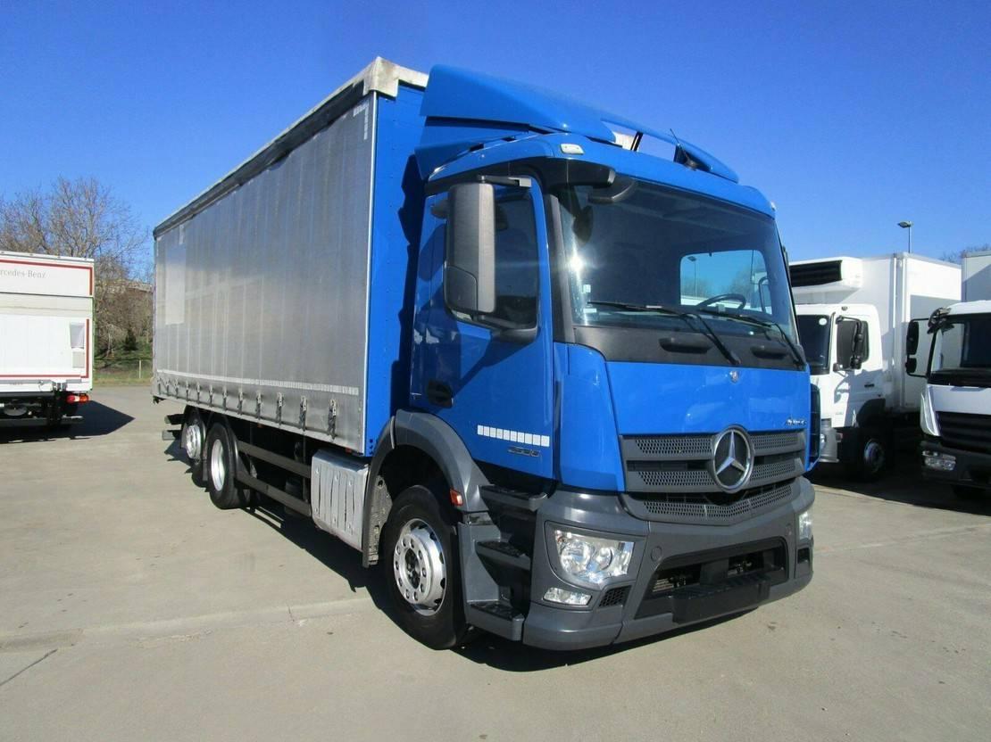 platform vrachtwagen Mercedes-Benz 2536 L Pritsche/Plane 7,30 m*Lenkachse 2014
