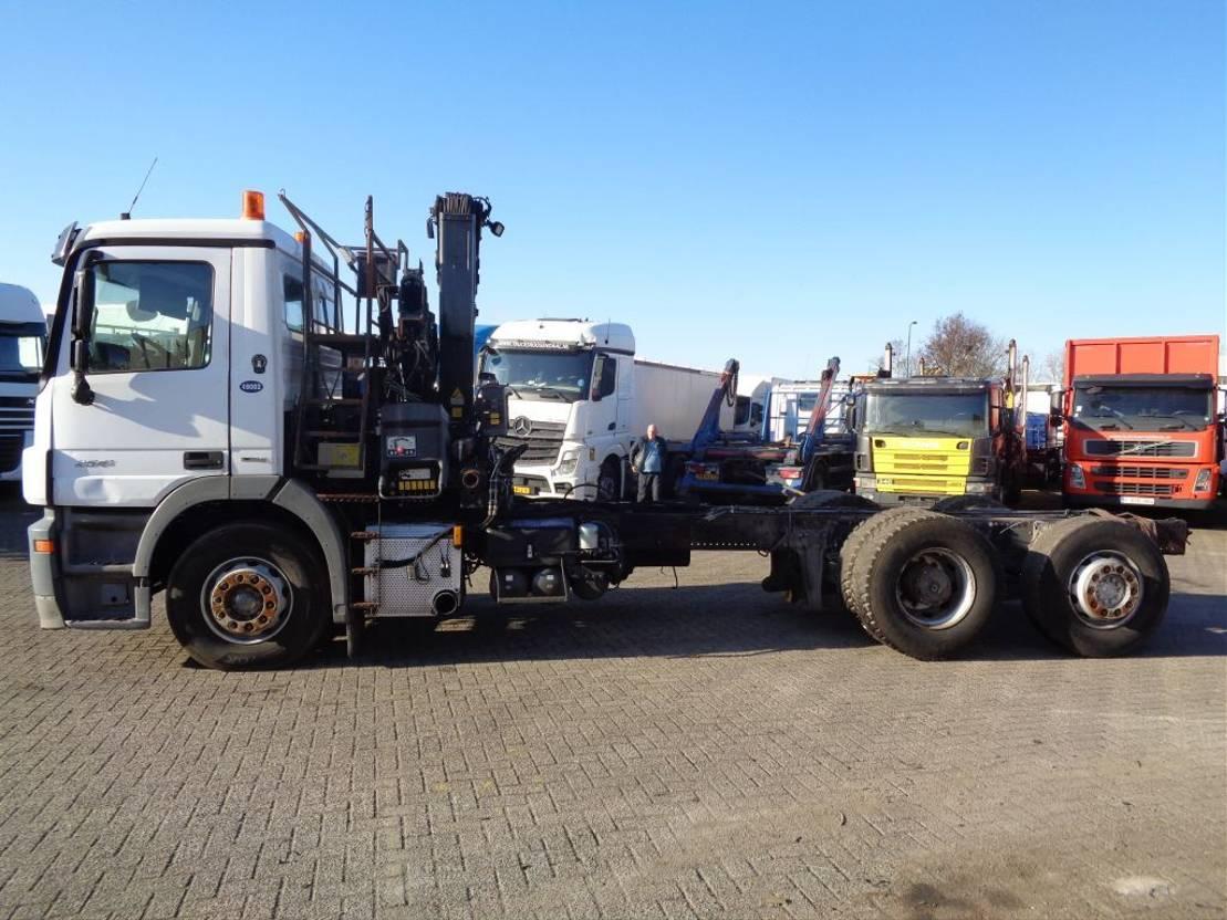 chassis cabine vrachtwagen Mercedes-Benz Actros 2541 + Euro 5 + Hiab 144 BS 2, engine broken 2010
