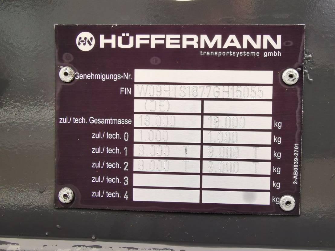 kipper aanhanger Huffermann HTSA 18.77 LS
