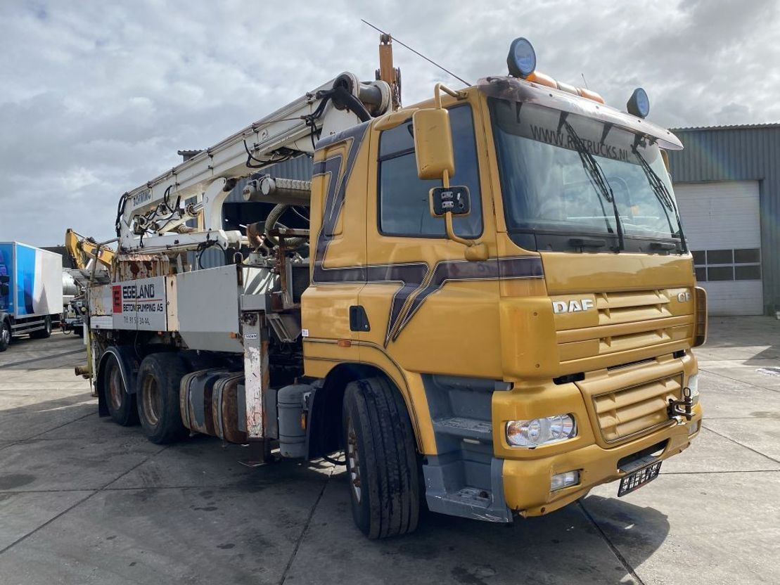 betonpomp vrachtwagen DAF CF 85 6X2 MANUAL + SCHWING KVM 24-4H - PUMP MISSING PARTS 2002