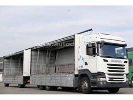 overige vrachtwagens Scania R450 Getränkekoffer Retarder Anhänger kpl. Zug 2014