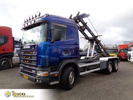 containersysteem vrachtwagen Scania R400 124G + Manual + PTO + Kipper system 1998