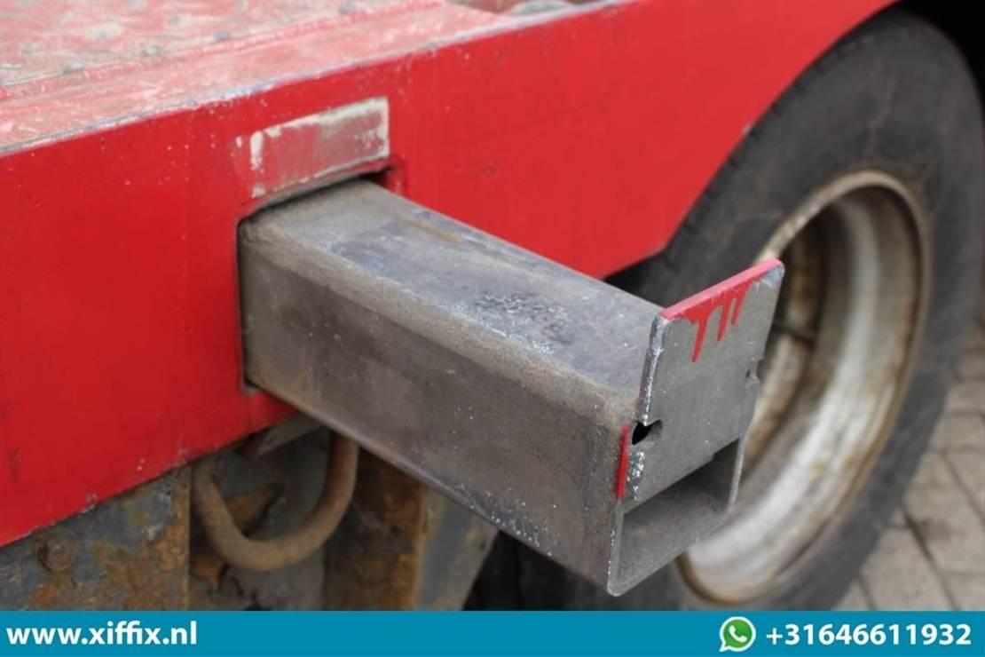 semi dieplader oplegger Nooteboom 4-ass. Uitschuifbare semi dieplader // 2x naloop gestuurd 2007