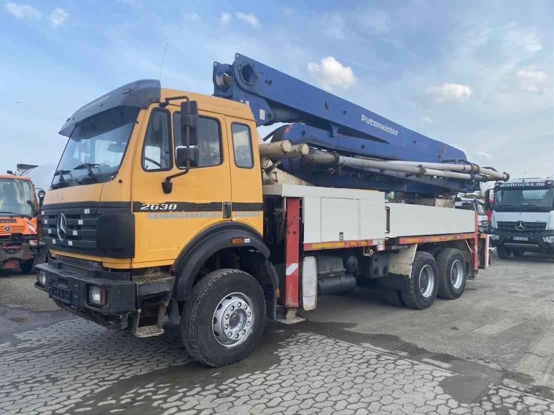 betonpomp vrachtwagen Mercedes-Benz 2638 Putzmeister 36m 1998