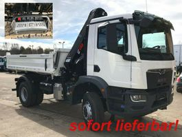 kipper vrachtwagen > 7.5 t MAN TGM 18.320 3 4x4 BB 2-Achs Allradkipper Kran Fun