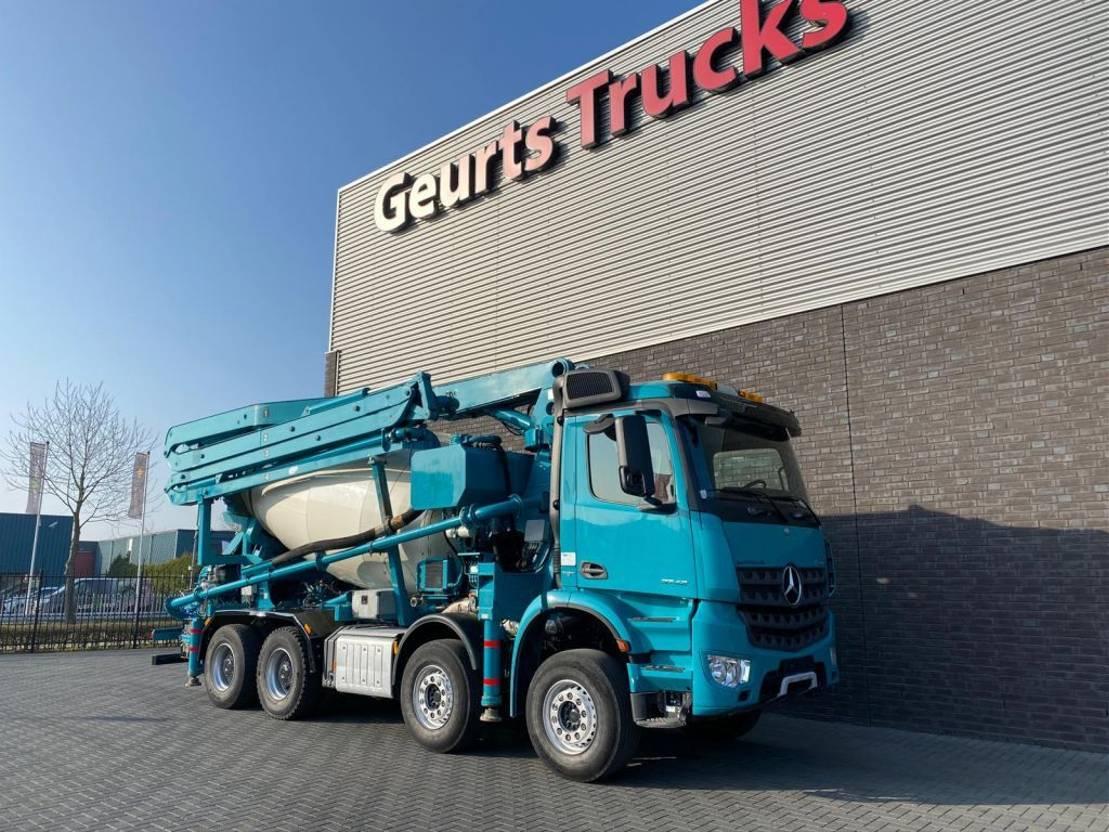 betonpomp vrachtwagen Mercedes-Benz Arocs 3742 8x4 SERMAC 4Z28 PUMI/CONCRETE MIXER/CONCRETE PUMP 2016