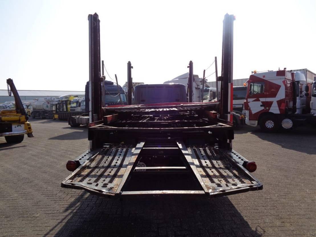 autotransporter vrachtwagen Scania P340 + Manual + PTO + Autotransporter 2000