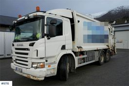 vuilkar camion Scania P380 6x2 / 2 1-chamber compactor with swing on sha 2008