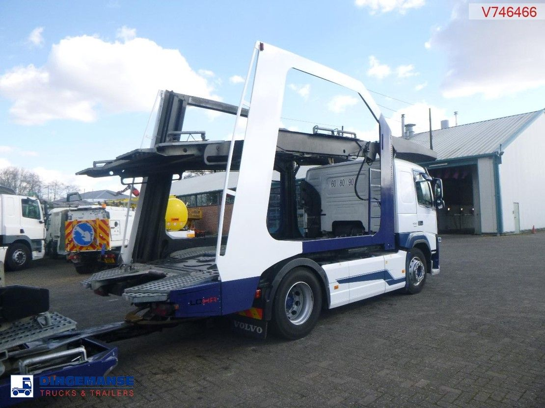 autotransporter vrachtwagen Volvo FM 460 4X2 Euro 6 Lohr car transporter 2015