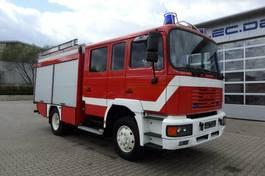 chassis cabine vrachtwagen MAN 14.224 4x4 Euro2 Feuerwehr 1200 Liter Wassertank 2001